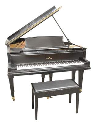 Steinway and Sons Grand Piano model A ebonized with