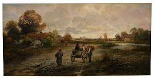 Dutch School (late 19th/early 20th Century), village