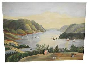"Hudson River Valley School, ""West Point"", primitive"