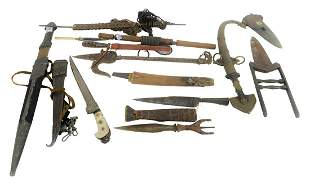 Group of Knives and Daggers to include a Japanese