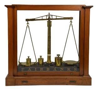 Monumental Fairbanks Balance Scale, brass balance