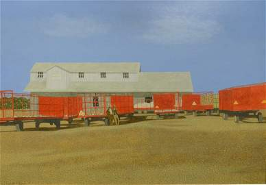 """Carroll Cloar (American, 1913-1993) """"Trailers at the"""