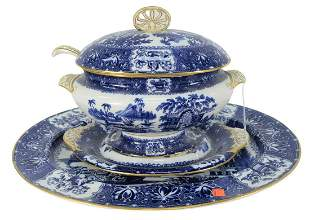 Copeland Five Piece Lot to include a covered tureen,