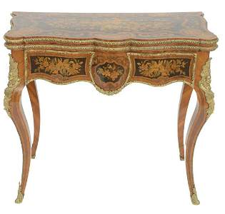 Important Louis XV Table having shaped top opening to
