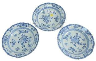 Seven Chinese Porcelain Plates to include a set of four