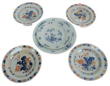 Six Piece Lot to include set of four Chinese Export