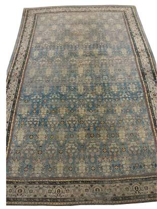 "Agra Oriental Carpet, having pale blue field, 13' 5"" x"