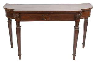 Regency Mahogany Pier Table having carved masks with