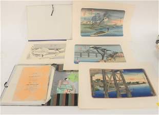 Group of Twenty-Five Japanese Woodblock Prints to