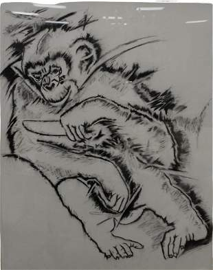 Bill Copley (American, b. 1946), Untitled (Chimpanzee),