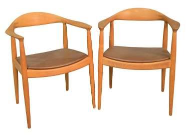"""Set of Ten Hans Wegner Armchairs, """"The Chairs"""", teak"""