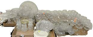 Table Lot of Fostoria Crystal Stems, to include pair of