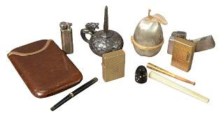 Group of Assorted Items, to include silverplate dragon