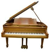 Steinway and Sons Mahogany Baby Grand Piano, marked