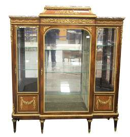 Francois Linke Vitrine Cabinet, having original beveled