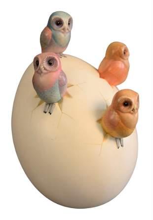 Sergio Bustamante (Mexican, b. 1949), egg with four