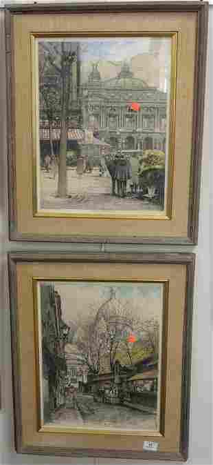 Two Piece Lot of Robert Kasimir (American/Austrian,
