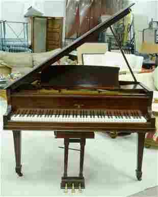 Sohmer & Company Mahogany Baby Grand Piano.