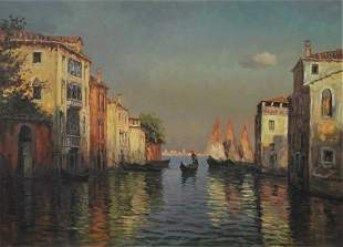 Frank Ferruzza (American, 1912 - 1984), Venetian Canal,