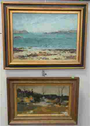 Three Piece Group of Landscapes, to include Lakeside