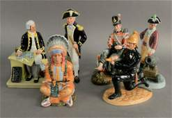 Group of Six Royal Doulton Porcelain Figures, to