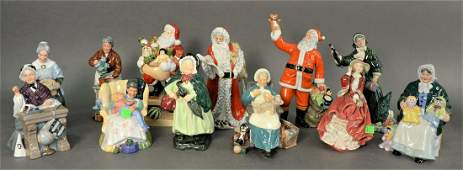 Group of Twelve Royal Doulton Porcelain Figures, to