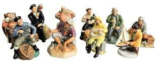 Group of Ten Royal Doulton Porcelain Figures, to