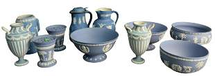 Group of Eleven Wedgwood Jasperware Items, to include a