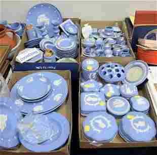 Four Tray Lots of Wedgwood Jasperware, to include cups,