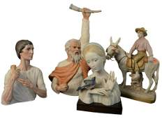 Eleven Piece Lot of Porcelain Figures, to include seven