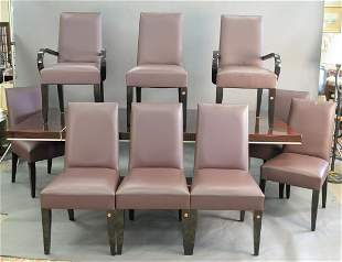 Set of Ten Dakota Jackson Dining Chairs, to include two