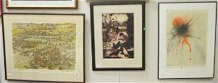 Six Piece Group of Contemporary Prints, to include a