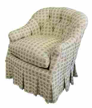 Fine Arts Furniture Custom Upholstered Club Chair,