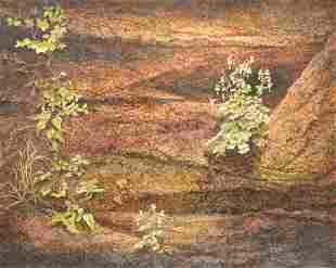 Max Standley (American, b. 1942), Desert Landscape, oil