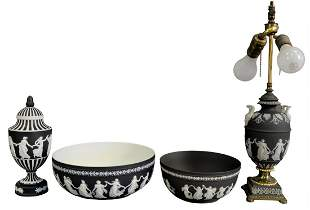 Four Piece Group of Wedgwood Jasperware, to include