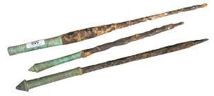 Three Ancient Greek Bronze Daggers, 300 B.C. or after,