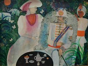 Regina Klein (American, 1931 - 2006), The Raj, acrylic