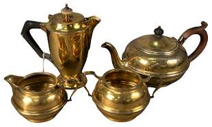 Four Piece English Silver Tea Set, along with a