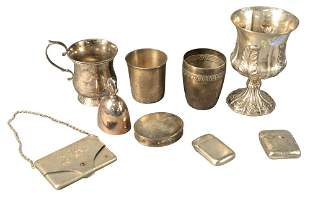 Sterling Silver Lot to include, Georg Jensen bell, W.