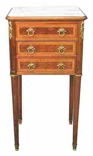 Marble Top Humidor, having one drawer over two false
