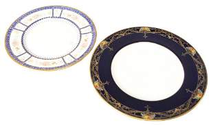 Two Sets of Porcelain Plates, to include a set of 12