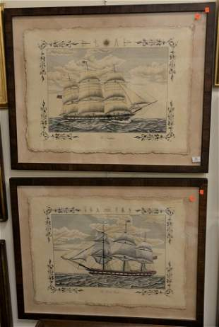 """Pair of Nautical Prints after V.Cioni, """"The Windsor"""