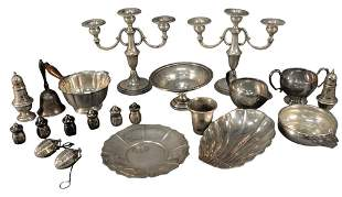 Tray Lot of Sterling Silver and Weighted Sterling