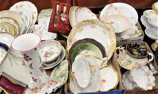 Six Tray Lots of Porcelain Serving Pieces, to include