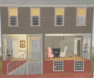Paul Crosthwaite (American, 1911 - 1981), interior