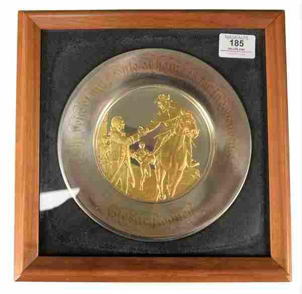 1975 Bicentennial Commemorative Sterling Silver Plate,