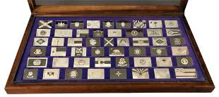 Franklin Mint Collection of Sterling State Flag
