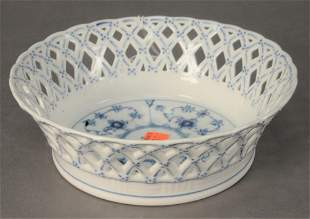 Royal Copenhagen Blue Fluted Half Lace Reticulated