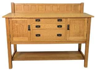 Stickley Mission Collection Oak Sideboard, having