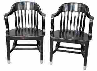 Pair of Ralph Lauren Arm Chairs, height 31 /12 inches,